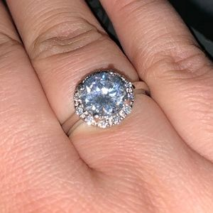 - Silver Plated CZ Ring Size 9